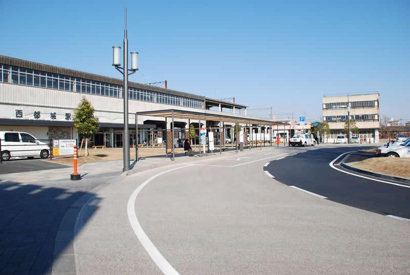 宮崎県西都城駅前ロータリー