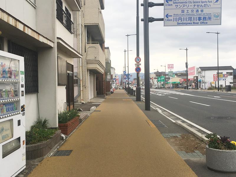 鹿児島県薩摩川内市 御陵下町歩道整備